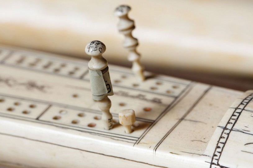 Image of of William S. Hart's Cribbage Board